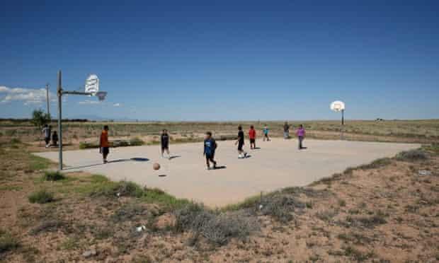 Navajo children in Birdsprings, Arizona