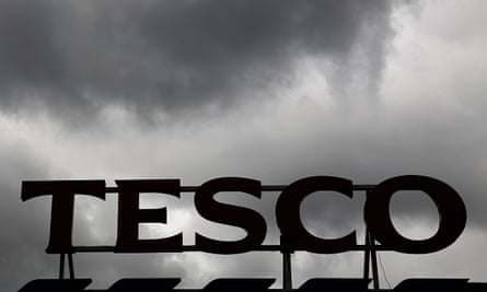 clouds over a Tesco Extra store