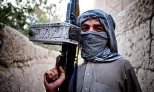 A Hezbi-i-Islami insurgent east of Kabul.