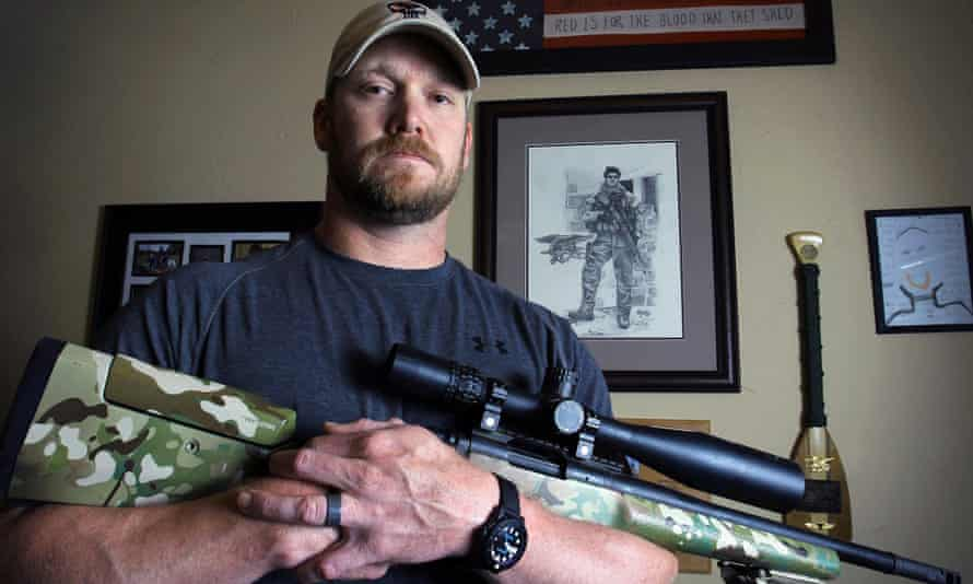 Writer and former US navy seal Chris Kyle, who was shot dead on a firing range by a fellow Iraq veteran.