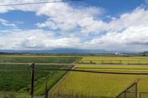 'This photo was taken from the train on my first Shinkansen ride during my holiday to Japan in 2012. After a week in Tokyo, this was the first time away from the endless buildings and seeing the horizon and the countryside. It was also a nice change from walking everywhere to going 300km/h in great comfort.'