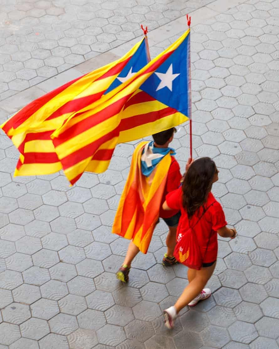 Catalans celebrate the 300th Catalan National Day in Barcelona.