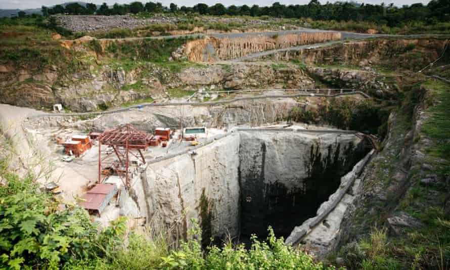 mine sierra leone africa deforestation