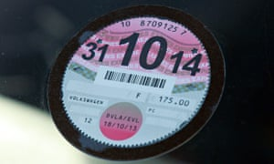 A car tax disc