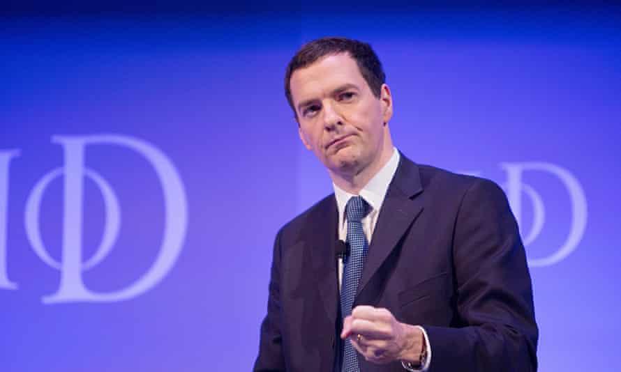 Chancellor George Osborne addresses the Institute of Directors