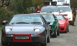 Jeremy Clarkson's Porsche with the number plate H982 FKL in Argentina