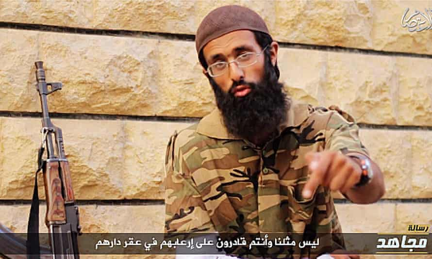 A still from the Islamic State (Isis) propaganda video