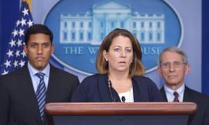 Lisa Monaco at a briefing at the White House.