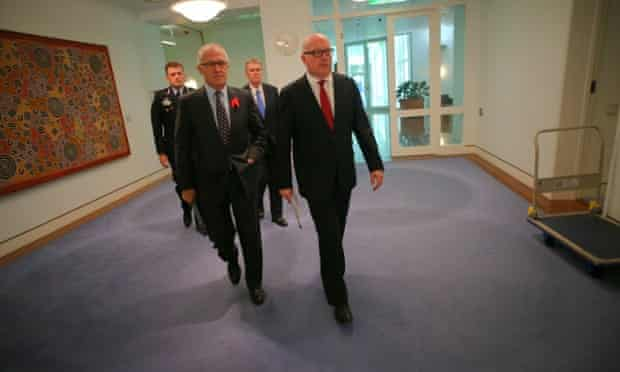 AFP commissioner Andrew Colvin, communications minister Malcolm Turnbull, head of Asio Duncan Lewis and attorney-general George Brandis on data retention powers.