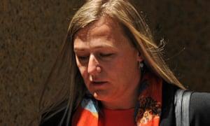 Tracie Portelli at the Luke Batty inquest