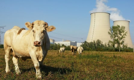 EDF's Nogent-sur-Seine nuclear plant, where a drone was seen flying overhead