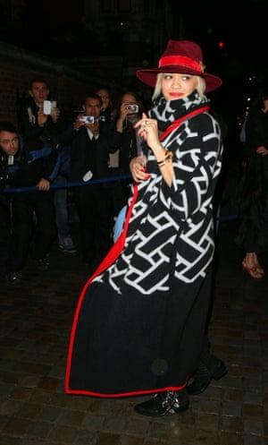 Rita Ora attending Mario Testinos Birthday party at the Chiltern Firehouse