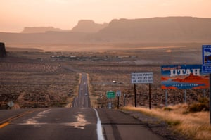 Travelling from Bryce Canyon to Grand Canyon North Rim. The sun was setting just as we crossed into Arizona.