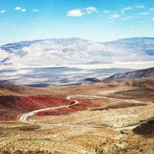 The view is from Father Crawley Point, on the drive from Death Valley National Park to Los Angeles.