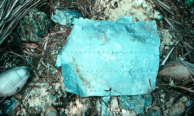 Metal fragment believed to be from Amelia Earhart's plane