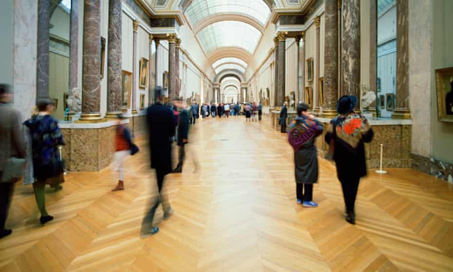 Interior of Louvre Museum