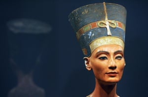 Queen Nefertiti of Egypt, after it returned to Berlin's Museum Island for the first time since World War II, at the city's Old Museum.