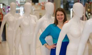 Jo Swinson at the launch of Debenhams' size 16 mannequin range in 2013