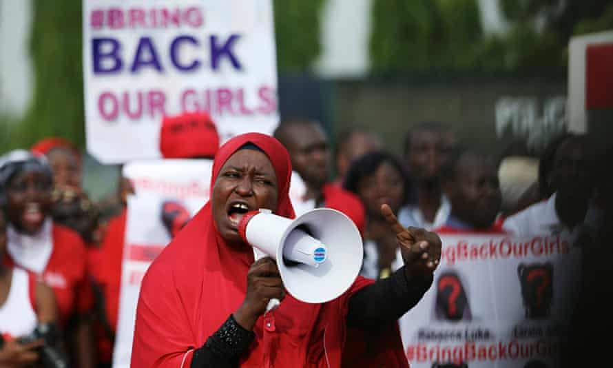 protesters chibok girls nigeria