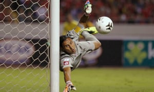 Keylor Navas says he will take legal action after Costa Rican government agents allegedly accessed his personal information. Photograph: Reuters