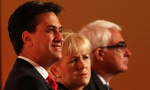 Ed Miliband, former Scottish Labour leader Johann Lamont and Better together campaign leader Alistair Darling.