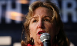 Kay Hagan addresses a crowd on the campaign trail in Rocky Mount, North Carolina, on Wednesday.
