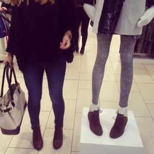 """Becky Leigh Hopper on Twitter: """"The girl on the left is a size 8/10. #Topshop #poorbodyimage #irresponsible #fashion #highstreet 😪 http://t.co/mYbCZMYeSI"""""""