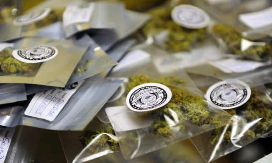 Packages of recreational marijuana in Edgewater, Colorado