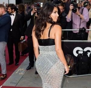 Kim Kardashian … rear-guard action.