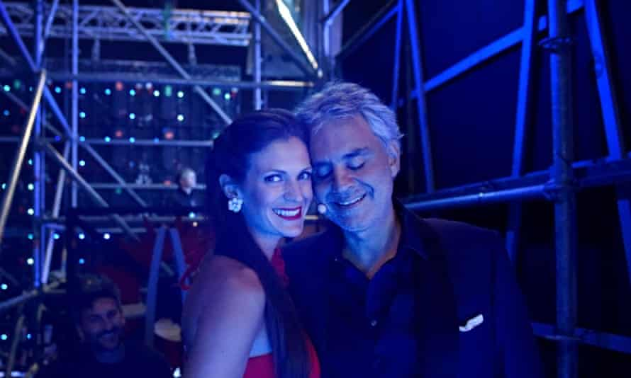 Andrea Bocelli and his wife Veronica