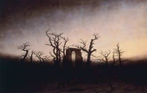 Abbey in the oakwood, ca 1809, by Caspar David Friedrich.