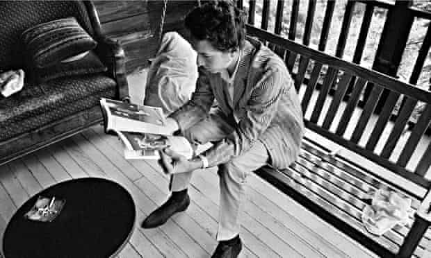 Bob Dylan on the porch