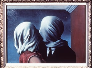 """""""The Lovers"""" by Rene Magritte."""