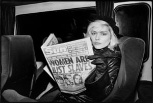 Debbie Harry Blondie with the Sun Chris Stein