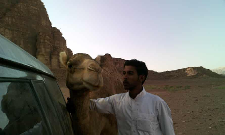 Mohammed and friend in the desert.