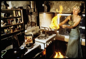 Debbie Harry Chris Stein flat fire pan frying
