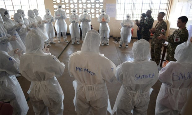 An Ebola care training course at the University of Seirra Leone's faculty of nursing, Freetown.