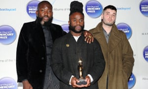 Young Fathers with their Mercury prize