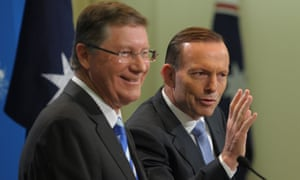 Denis Napthine and Tony Abbott