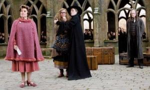 Imelda Staunton (left) as Dolores Umbridge