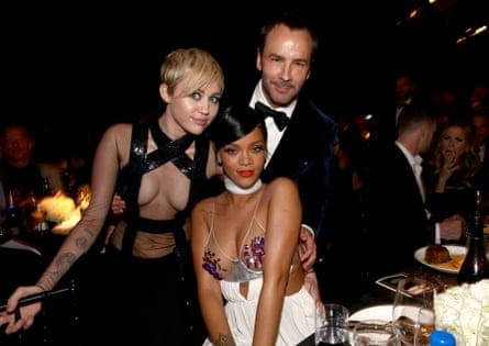 Miley Cyrus, Rihanna and honoree Tom Ford attend amfAR LA Inspiration Gala