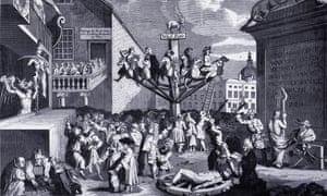 The South Sea Bubble - An Allegory, engraving by Willam Hogarth.