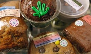 Ingestible products for sale at the Boulder Vital Herbs medical marijuana dispensary in Boulder, Colorado.