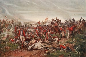18th June 1815: French cuirassiers charging a British square during the Battle of Waterloo.