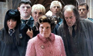 'Every bit as reprehensible as Lord Voldemort' ... Imelda Staunton (left) as Dolores Umbridge in the 2007 film adapatation of Harry Potter and the Order of the Phoenix.