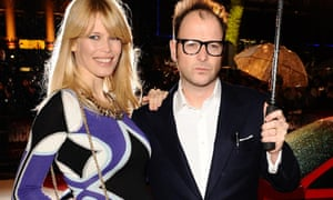 Claudia Schiffer and  Matthew Vaughn on the red carpet