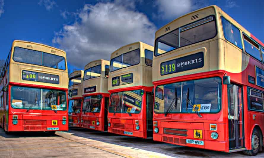 Buses at depot