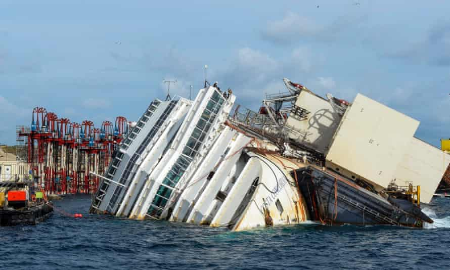 The wreck of Italy's Costa Concordia cruise ship