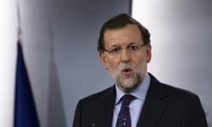 Spanish Prime Minister Mariano Rajoy speaks.