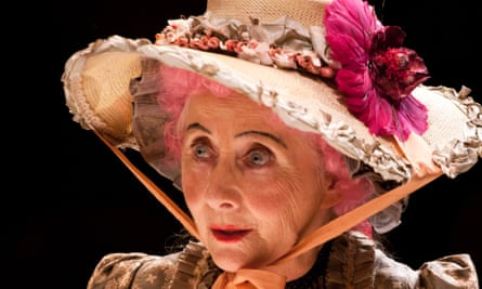 Gemma Jones as Mrs Malaprop in The Rivals at the Arcola Theatre 2014.